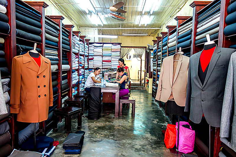 Mr Xe Tailor, Hoi An, Fabric, Garments, Suits, Shirts, Bespoke