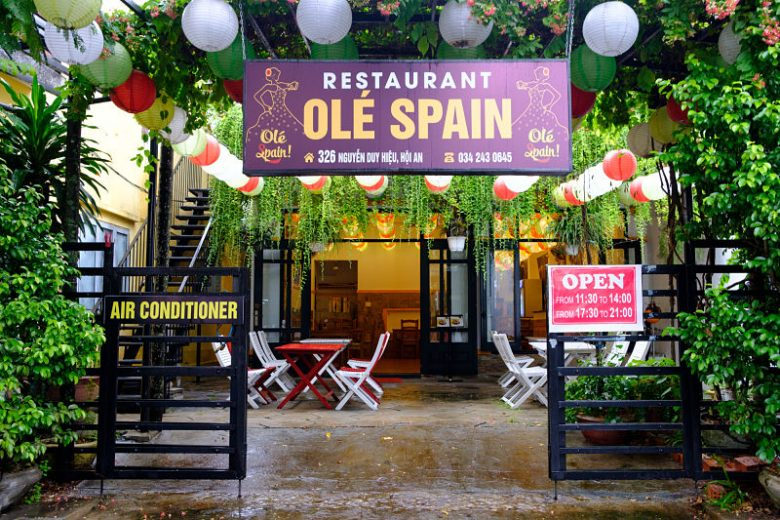 Ole Spain, external. Spanish restaurant Hoi An